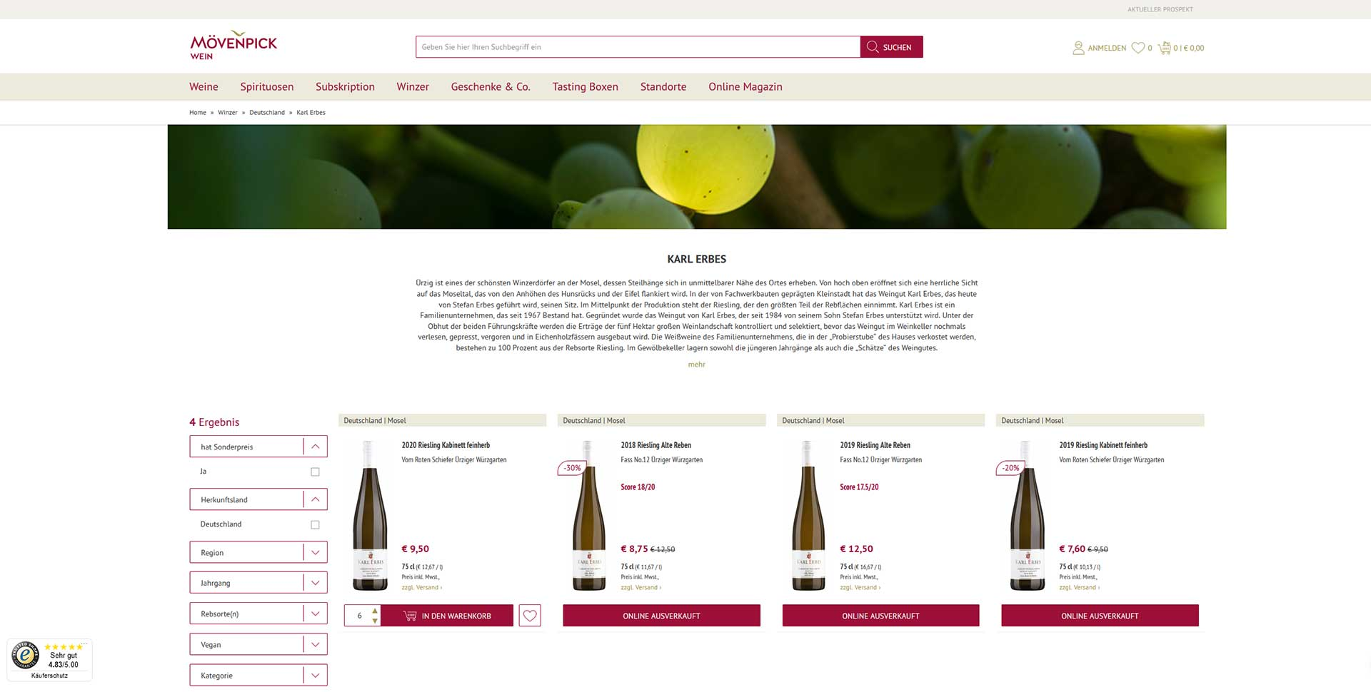 Mövenpick Wein