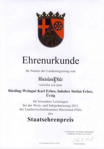 Urkunde_Staatsehrenpreis_2012